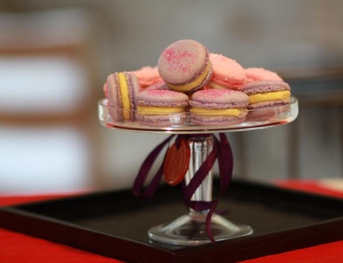 Pierre Herme Violet Macaron with Lemon Filling
