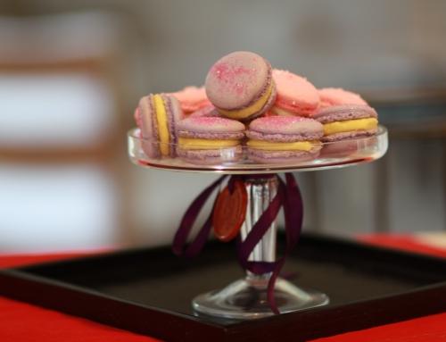 Pierre Herme Violet Macaron with Lemon Filling