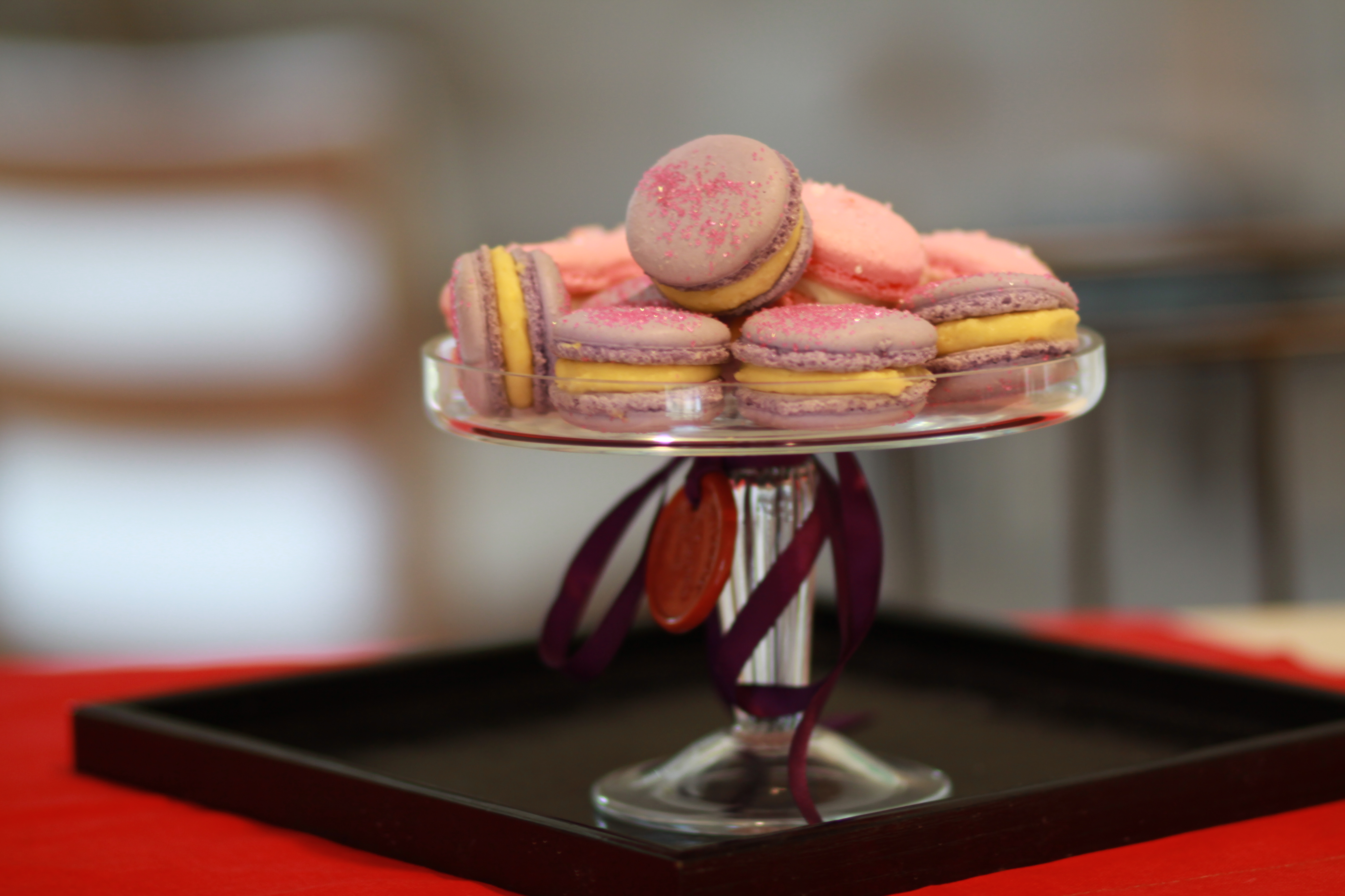 Pierre Herme: Violet Macaron with Lemon Filling